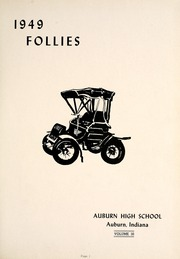 Page 5, 1949 Edition, Auburn High School - Follies Yearbook (Auburn, IN) online yearbook collection