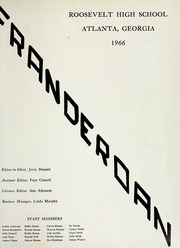 Page 5, 1966 Edition, Roosevelt High School - Franderoan Yearbook (Atlanta, GA) online yearbook collection