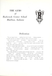 Page 5, 1959 Edition, Rockcreek High School - Gems Yearbook (Bluffton, IN) online yearbook collection