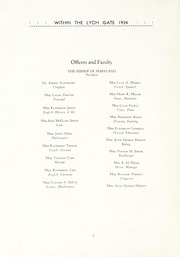 Page 10, 1934 Edition, Hannah More School - Within the Lych Gate Yearbook (Reisterstown, MD) online yearbook collection