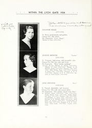 Page 14, 1934 Edition, Hannah More School - Within the Lych Gate Yearbook (Reisterstown, MD) online yearbook collection