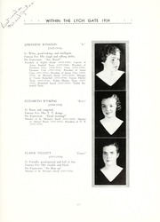 Page 15, 1934 Edition, Hannah More School - Within the Lych Gate Yearbook (Reisterstown, MD) online yearbook collection