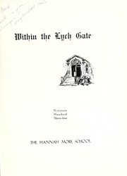 Page 7, 1934 Edition, Hannah More School - Within the Lych Gate Yearbook (Reisterstown, MD) online yearbook collection