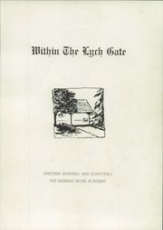 Page 7, 1942 Edition, Hannah More School - Within the Lych Gate Yearbook (Reisterstown, MD) online yearbook collection