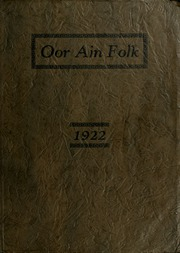 Page 1, 1922 Edition, Wallace School and Conservatory - Oor Ain Folk Yearbook (Columbus, OH) online yearbook collection