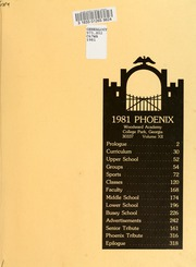 Page 3, 1981 Edition, Woodward Academy - Phoenix Yearbook (College Park, GA) online yearbook collection