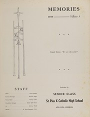 Page 3, 1959 Edition, St Pius X Catholic High School - Golden Echoes Yearbook (Atlanta, GA) online yearbook collection