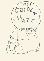 1953 Edition, Akron High School - Golden Haze Yearbook (Akron, IN)