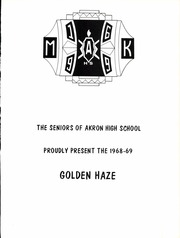 Page 5, 1969 Edition, Akron High School - Golden Haze Yearbook (Akron, IN) online yearbook collection