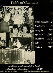 Page 7, 1975 Edition, Heritage Academy High School - Heritor Yearbook (Columbus, MS) online yearbook collection