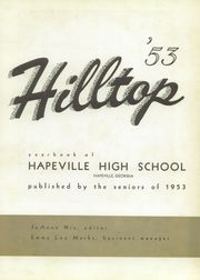 Page 7, 1953 Edition, Hapeville High School - Hilltop Yearbook (Hapeville, GA) online yearbook collection