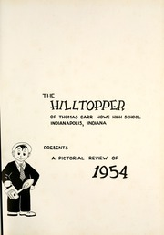 Page 5, 1954 Edition, Thomas Carr Howe Community High School - Hilltopper Yearbook (Indianapolis, IN) online yearbook collection
