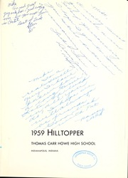 Page 5, 1957 Edition, Thomas Carr Howe Community High School - Hilltopper Yearbook (Indianapolis, IN) online yearbook collection