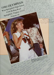 Page 5, 1986 Edition, West Springfield High School - Olympian Yearbook (Springfield, VA) online yearbook collection