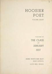 Page 7, 1937 Edition, James Whitcomb Riley High School - Hoosier Poet Yearbook (South Bend, IN) online yearbook collection