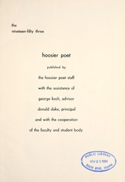 Page 5, 1953 Edition, James Whitcomb Riley High School - Hoosier Poet Yearbook (South Bend, IN) online yearbook collection