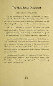 Page 11, 1922 Edition, Jefferson Township School - Jeffersonian Yearbook (Warren, IN) online yearbook collection