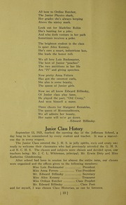 Page 16, 1922 Edition, Jefferson Township School - Jeffersonian Yearbook (Warren, IN) online yearbook collection