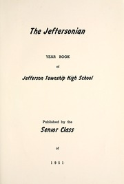 Page 5, 1951 Edition, Jefferson Township School - Jeffersonian Yearbook (Warren, IN) online yearbook collection