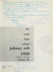 Page 7, 1958 Edition, Denver South High School - Johnny Reb Yearbook (Denver, CO) online yearbook collection