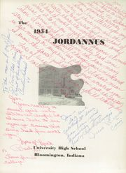Page 5, 1954 Edition, University High School - Jordannus Yearbook (Bloomington, IN) online yearbook collection