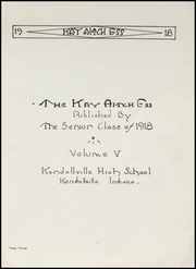 Page 5, 1918 Edition, Kendallville High School - Kay Aitch Ess Yearbook (Kendallville, IN) online yearbook collection