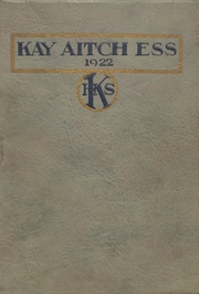 Page 1, 1922 Edition, Kendallville High School - Kay Aitch Ess Yearbook (Kendallville, IN) online yearbook collection