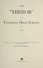 Page 9, 1901 Edition, Franklin Community High School - Kite Yearbook (Franklin, IN) online yearbook collection