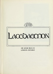 Page 5, 1968 Edition, Sir Adam Beck Secondary School - Lacedaemon Yearbook (London, Ontario Canada) online yearbook collection