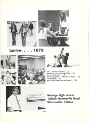 Page 5, 1973 Edition, Heritage High School - Lantern Yearbook (Monroeville, IN) online yearbook collection