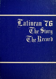 1976 Edition, Latin High School of Indianapolis - Latinean Yearbook (Indianapolis, IN)