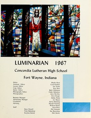 Page 5, 1967 Edition, Concordia Lutheran High School - Luminarian Yearbook (Fort Wayne, IN) online yearbook collection