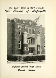 Page 7, 1954 Edition, Lafayette Central High School - Leaves of Lafayette Yearbook (Roanoke, IN) online yearbook collection
