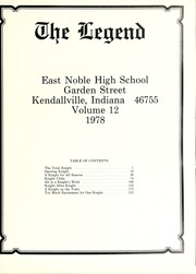 Page 5, 1978 Edition, East Noble High School - Legend Yearbook (Kendallville, IN) online yearbook collection