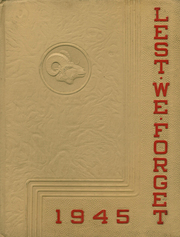 1945 Edition, Cridersville High School - Lest We Forget Yearbook (Cridersville, OH)