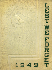 1949 Edition, Cridersville High School - Lest We Forget Yearbook (Cridersville, OH)
