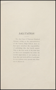 Page 7, 1916 Edition, Geneva High School - Legend Yearbook (Geneva, IN) online yearbook collection