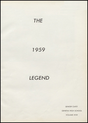 Page 5, 1959 Edition, Geneva High School - Legend Yearbook (Geneva, IN) online yearbook collection