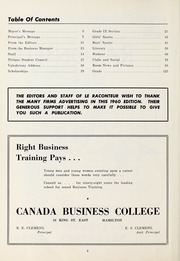 Page 4, 1960 Edition, Westdale Secondary School - Le Raconteur Yearbook (Hamilton, Ontario Canada) online yearbook collection