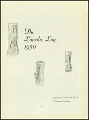 Page 5, 1950 Edition, Vincennes Lincoln High School - Lincoln Log Yearbook (Vincennes, IN) online yearbook collection