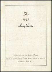 Page 3, 1947 Edition, Bishop Loughlin Memorial High School - Loughlinite Yearbook (Brooklyn, NY) online yearbook collection