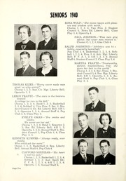 Page 16, 1940 Edition, Liberty Center High School - Memories Yearbook (Liberty Center, IN) online yearbook collection