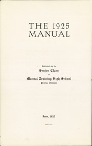 Page 4, 1925 Edition, Manual High School - Mirror Yearbook (Peoria, IL) online yearbook collection