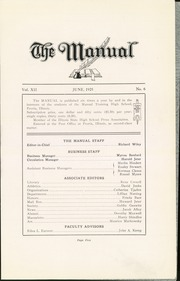 Page 7, 1925 Edition, Manual High School - Mirror Yearbook (Peoria, IL) online yearbook collection