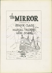 Page 7, 1929 Edition, Manual High School - Mirror Yearbook (Peoria, IL) online yearbook collection