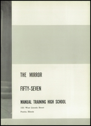 Page 7, 1957 Edition, Manual High School - Mirror Yearbook (Peoria, IL) online yearbook collection