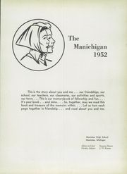 Page 5, 1952 Edition, Manistee High School - Manichigan Yearbook (Manistee, MI) online yearbook collection