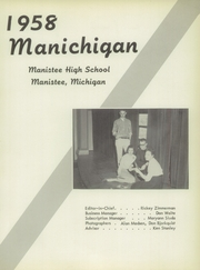 Page 5, 1958 Edition, Manistee High School - Manichigan Yearbook (Manistee, MI) online yearbook collection