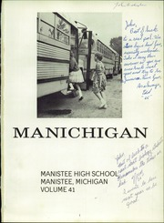 Page 5, 1964 Edition, Manistee High School - Manichigan Yearbook (Manistee, MI) online yearbook collection