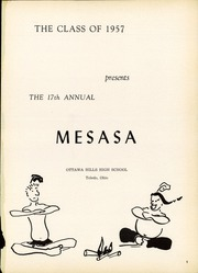 Page 3, 1957 Edition, Ottawa Hills High School - Mesasa Yearbook (Ottawa Hills, OH) online yearbook collection